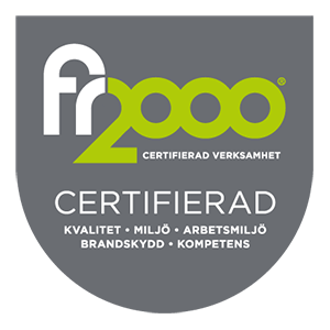 Certtifierade enligt FR2000