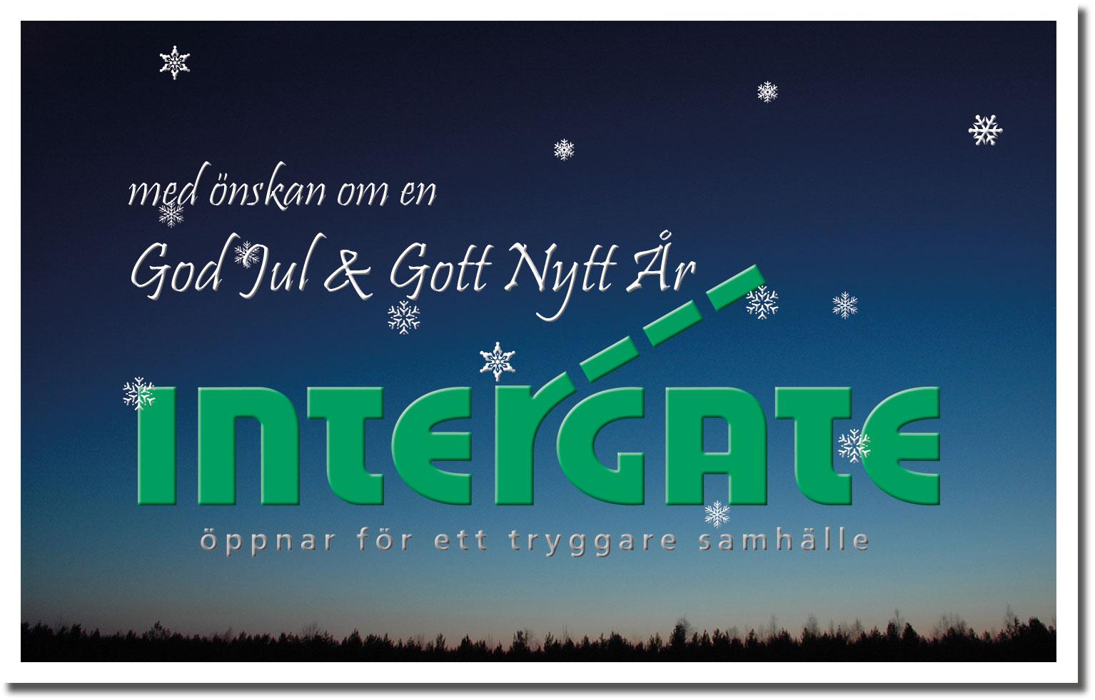 Julkort från Intergate